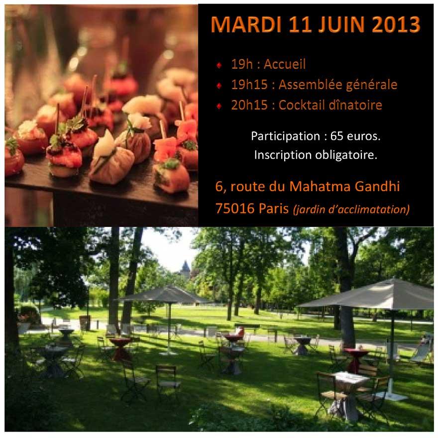 Invitation soirée annuelle / AG 2013