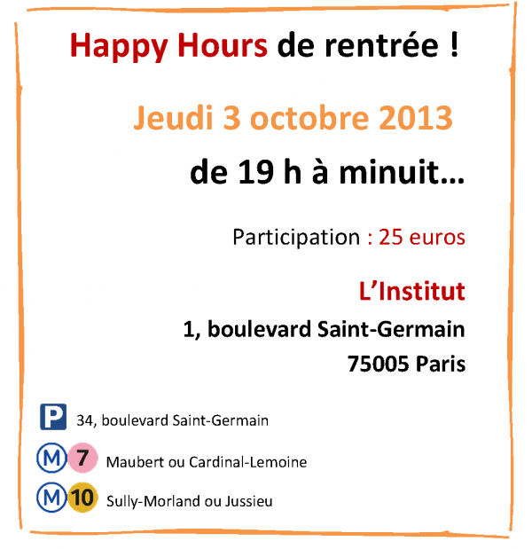 Invitation HH du 4 octobre 2013