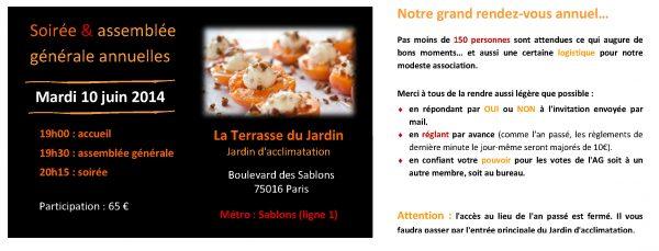 Message RV 2ème semestre Paris